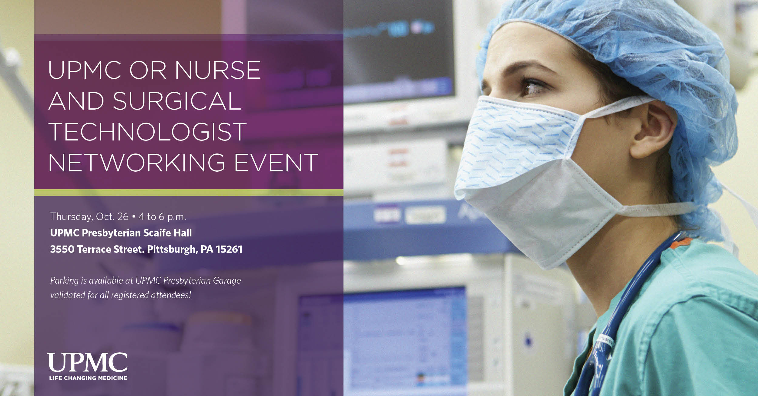 UPMC Nursing and Surgical Technologist Network Event banner