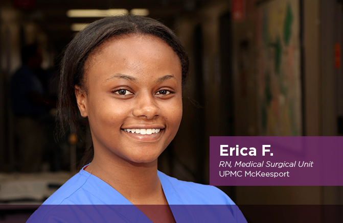 Erica F., RN, Medical Surgical Unit, UPMC McKeesport