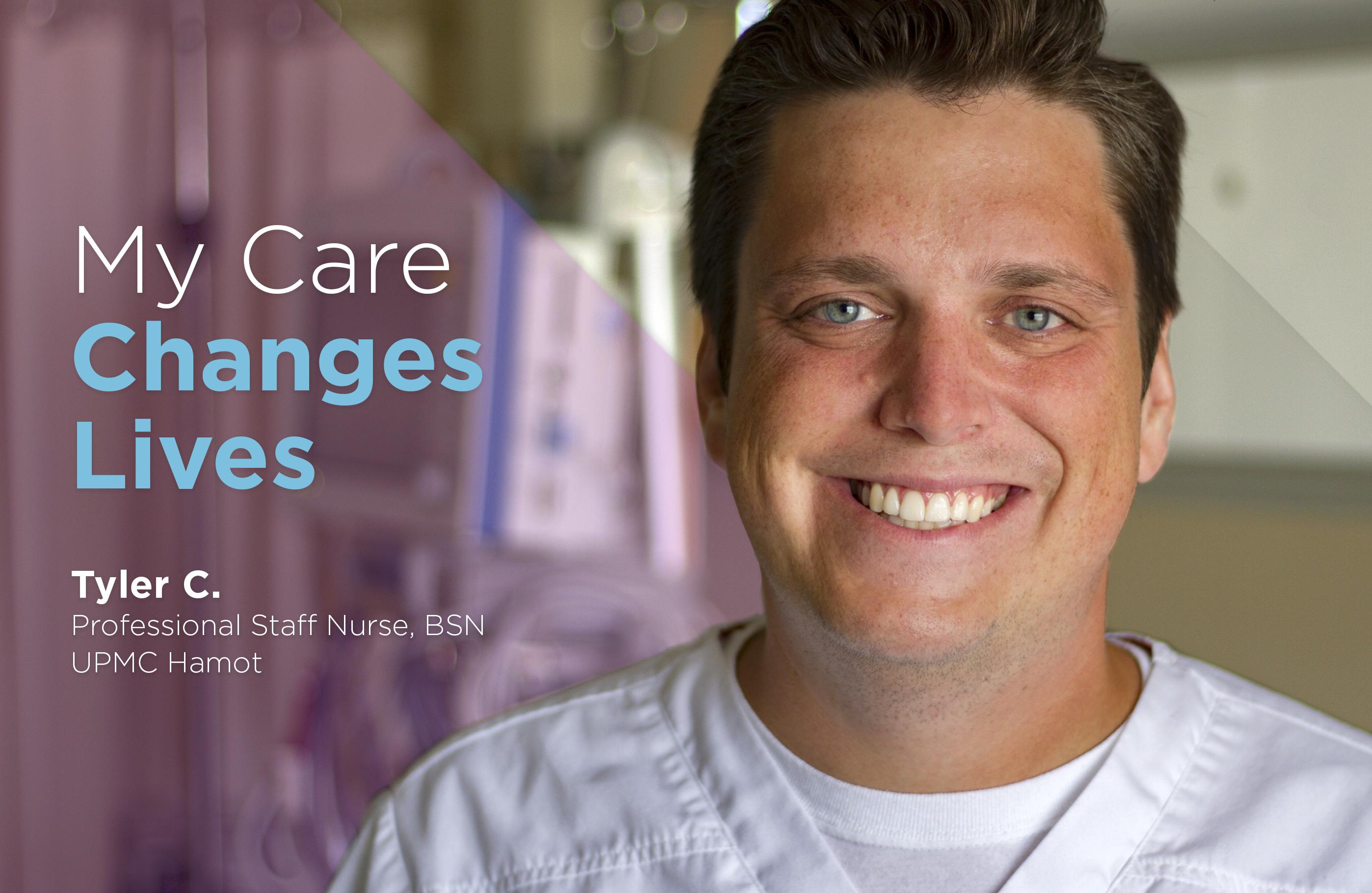 Tyler Cyphert, Professional Staff Nurse, BSN, UPMC Hamot