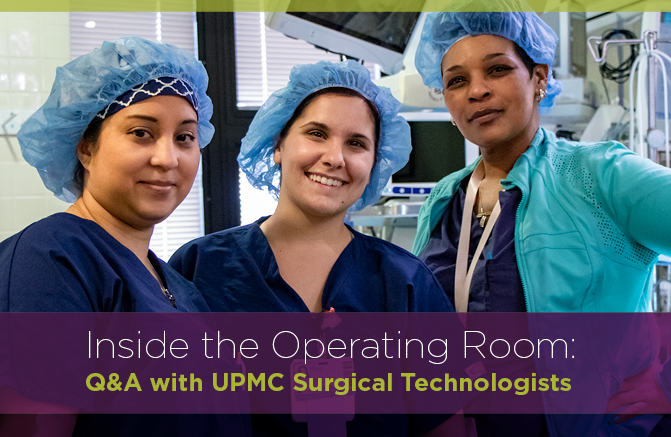 Header image of three Surgical Technologists in an operating room