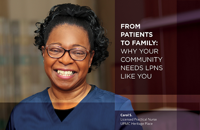 Carol S., Licensed Practical Nurse, UPMC Heritage Place