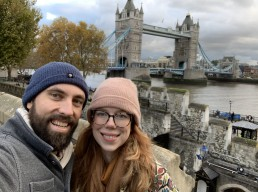 Elizabeth and Kevin at the Tower of London.