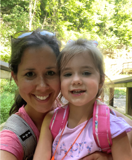 Jeni after hiking with her daughter, Caroline