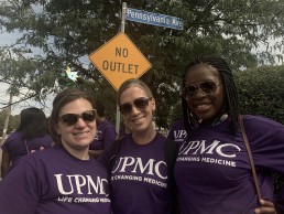Mpande and her coworkers at an African American Heritage Day parade