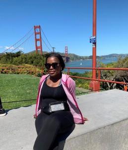 Mpande visiting Golden Gate Bridge
